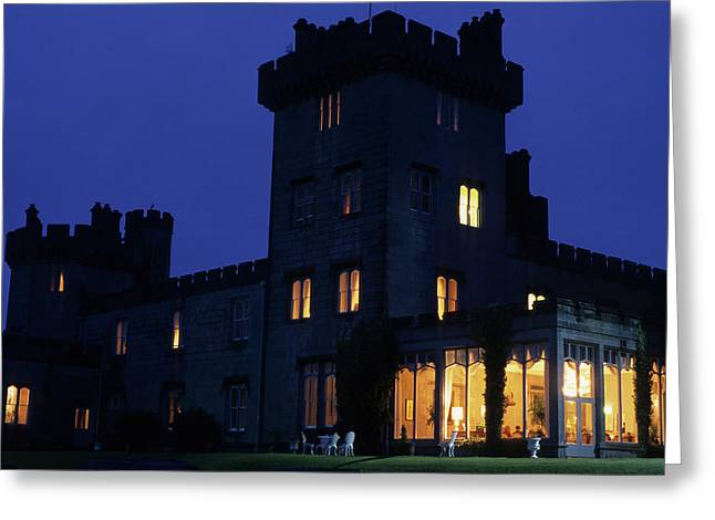 Dromoland Castle At Night Greeting Card by Carl Purcell