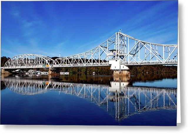 East Haddam Bridge Greeting Card by Mountain Dreams