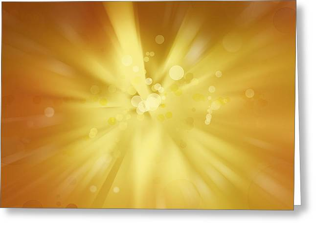 Explosive Background  Greeting Card by Les Cunliffe