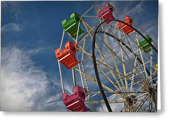 Ferris Wheel Greeting Card by Brandon Bourdages