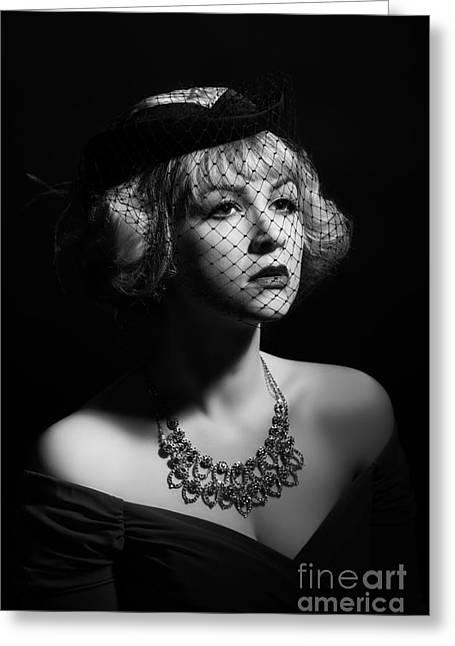 Film Noir Greeting Card by Amanda Elwell