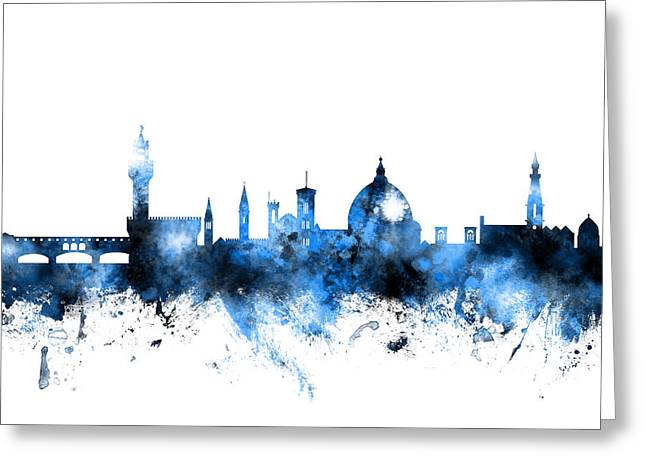 Florence Italy Skyline Greeting Card by Michael Tompsett
