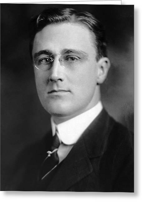 Franklin Delano Roosevelt Greeting Card by Granger