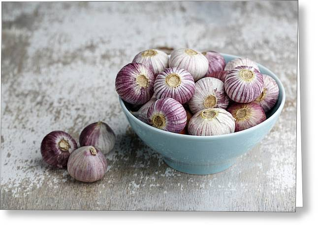 Garlic Greeting Card by Nailia Schwarz