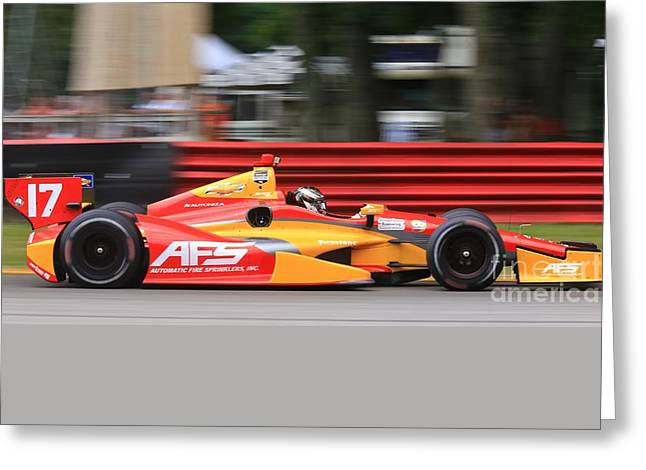 Pro Indycar Racing Greeting Card by Douglas Sacha