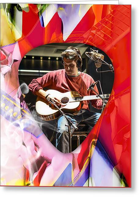 John Mayer Art Greeting Card