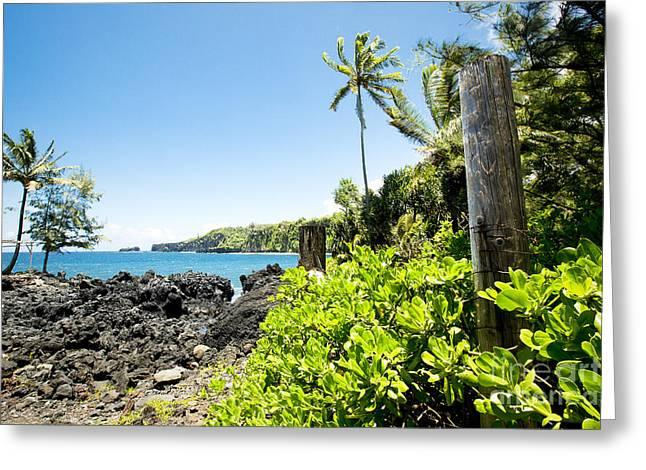 Keanae Maui Hawaii Greeting Card by Sharon Mau