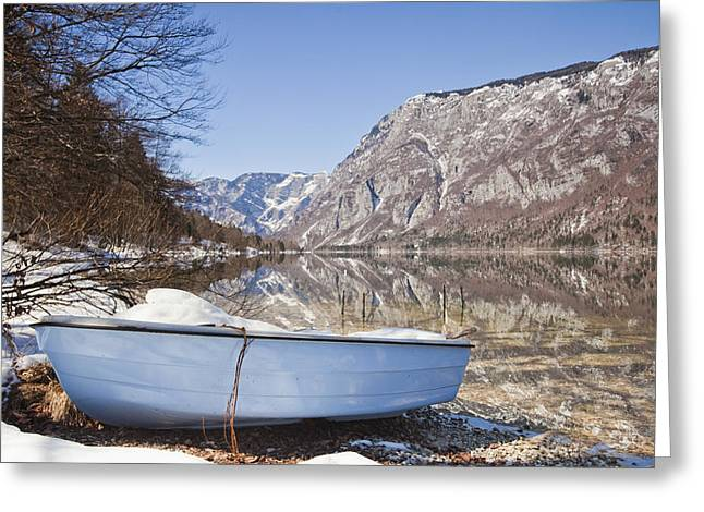 Lake Bohinj Greeting Card by Andre Goncalves