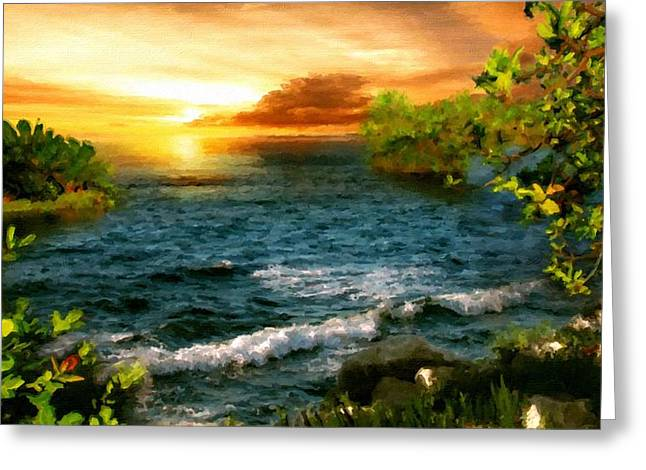 Landscape Paintings Greeting Card by Victoria Landscapes