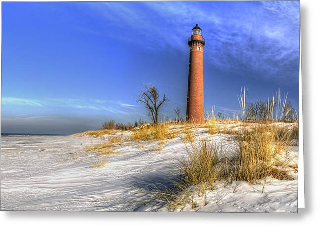 Little Sable Lighthouse Greeting Card by Twenty Two North Photography