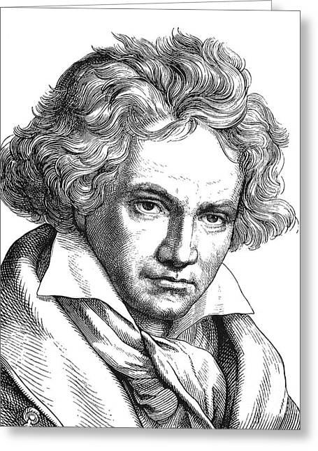 Ludwig Van Beethoven Greeting Card by Granger