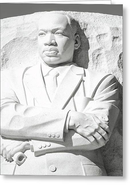 Martin Luther King Memorial In Washington Dc Greeting Card by Brandon Bourdages
