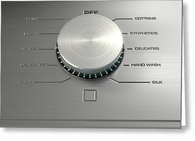 Modern Washing Machine Closeups Greeting Card by Allan Swart