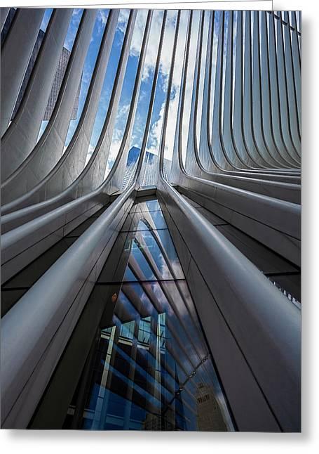 Oculus Center Nyc Greeting Card by Robert Ullmann