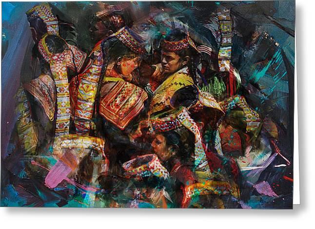 8 Pakistan Folk Chitraal Greeting Card