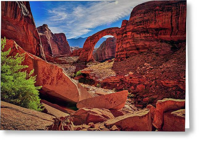 Greeting Card featuring the photograph Rainbow Bridge Monument by Peter Lakomy