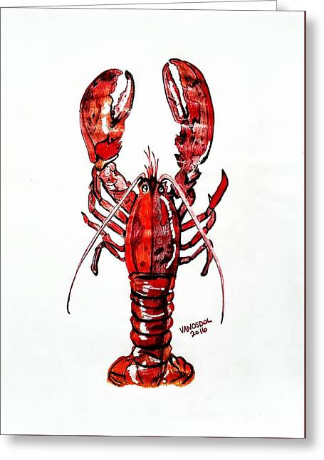 Red Lobster Greeting Card by Scott D Van Osdol