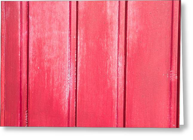 Red Wood Greeting Card by Tom Gowanlock