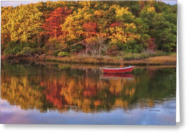 Autumn Reflection  Greeting Card by JAMART Photography