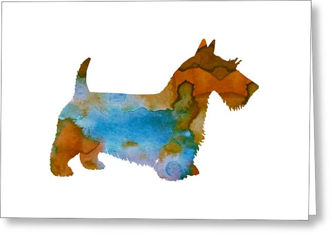 Scottish Terrier Greeting Card by Mordax Furittus