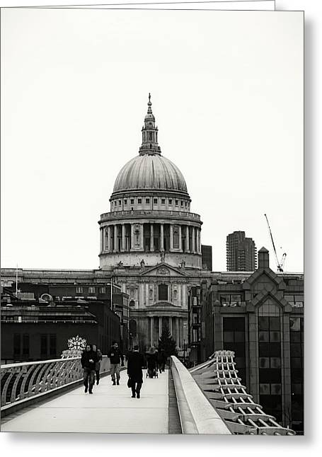 St Pauls Cathedral Greeting Card by Martin Newman