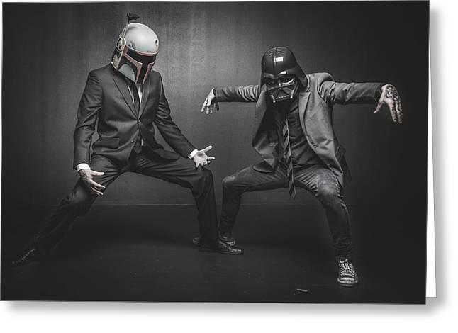 Star Wars Dressman Greeting Card by Marino Flovent