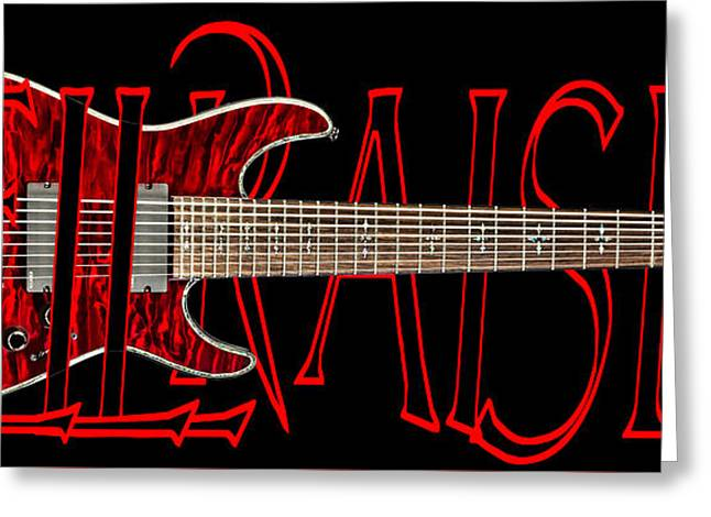 8 String Guitar-schecter Hellraiser Greeting Card