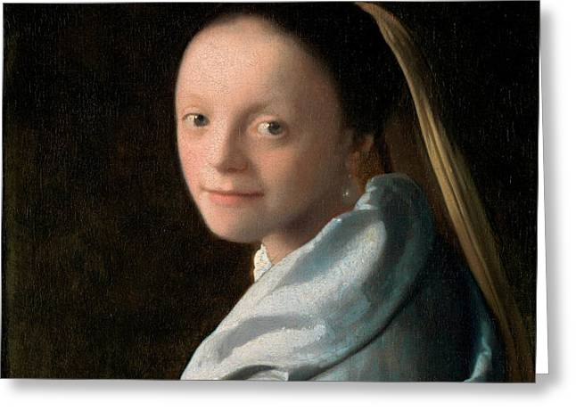 ed1ca989ff9 Study Of A Young Woman Greeting Card Study Of A Young Woman. Johannes  Vermeer