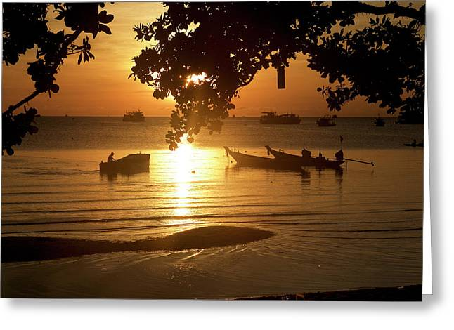 Sunrise On Koh Tao Island In Thailand Greeting Card