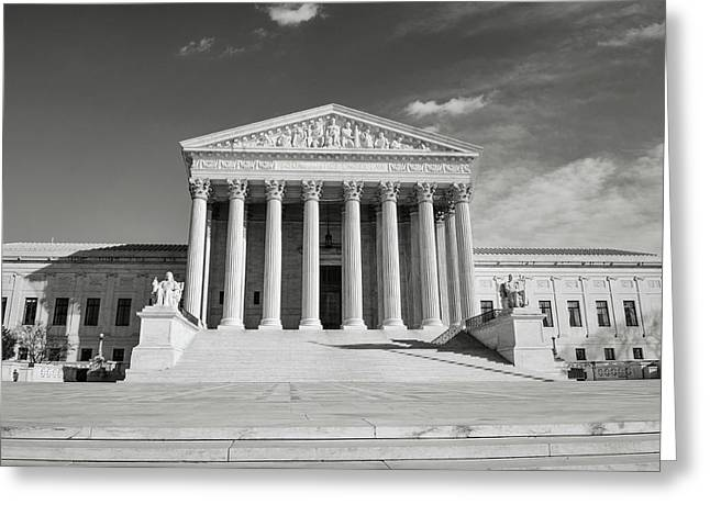 Supreme Court Building Greeting Card by Brandon Bourdages