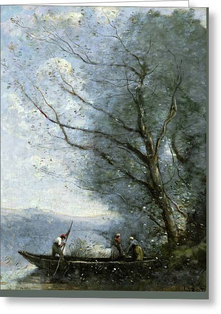 The Ferryman Greeting Card by Camille Corot