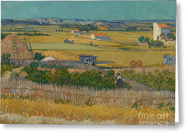 The Harvest Greeting Card by Vincent Van Gogh