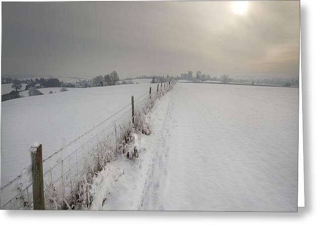 The Wintery Tales Greeting Card by Angel  Tarantella