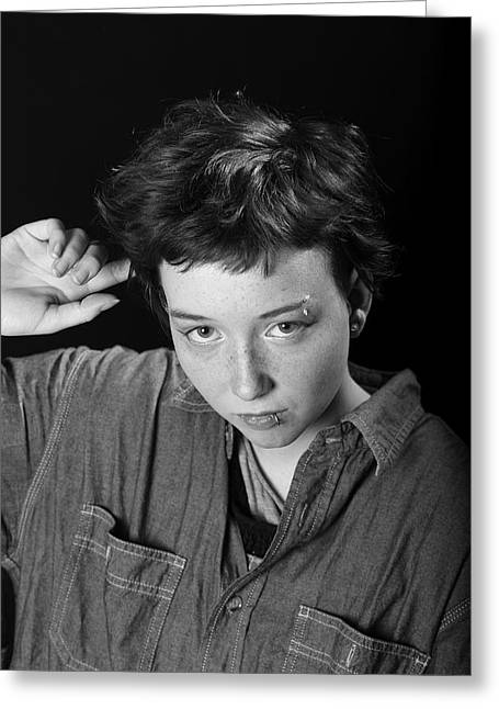 Tomboy Greeting Card by Pierre Roussel