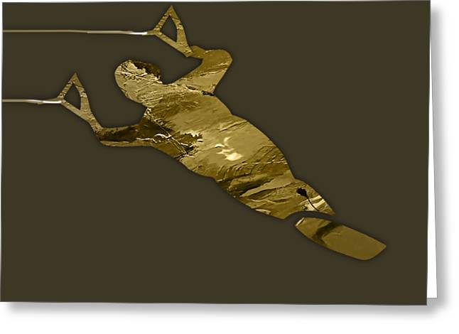 Waterski Collection Greeting Card by Marvin Blaine