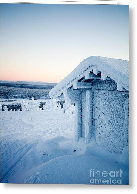 Winter In Lapland Finland Greeting Card
