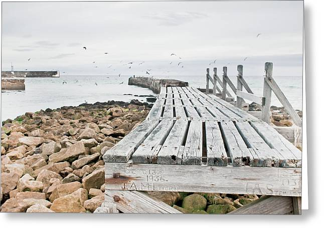 Wooden Walkway Greeting Card by Tom Gowanlock