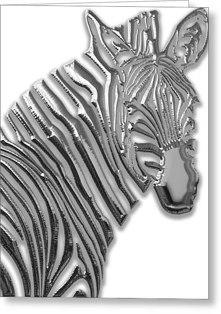 Zebra Collection Greeting Card by Marvin Blaine