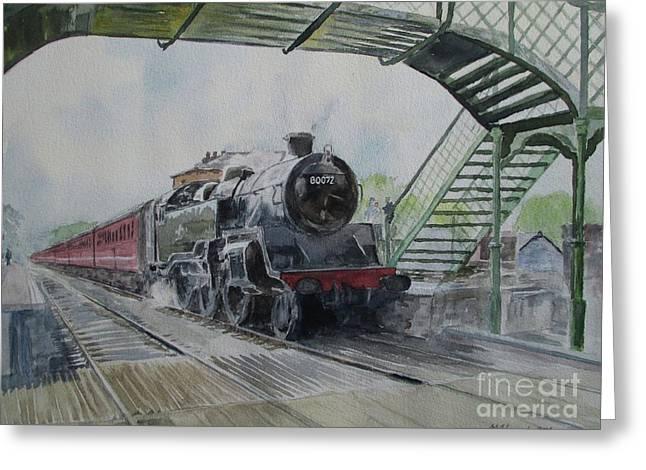 80072 At North Weald Greeting Card by Martin Howard