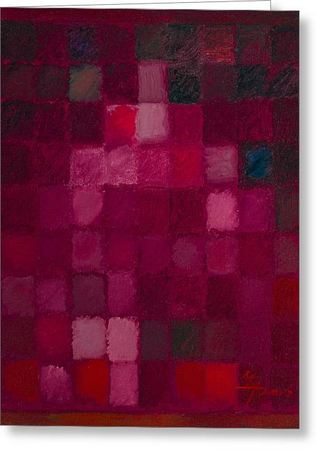 81 Color Fields - Madder Lake Greeting Card