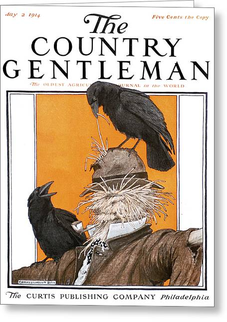 Cover Of Country Gentleman Agricultural Greeting Card by Remsberg Inc