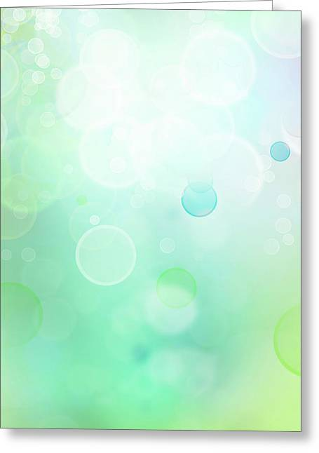 Circles Greeting Cards - Abstract background Greeting Card by Les Cunliffe