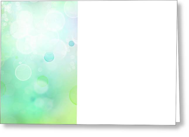 Defocused Greeting Cards - Abstract background Greeting Card by Les Cunliffe