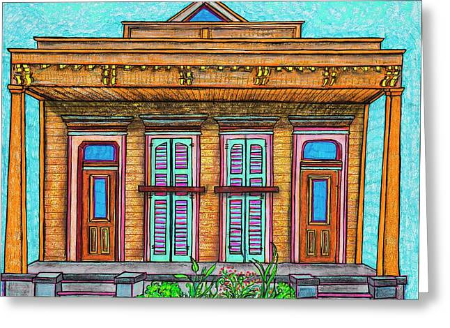 825 Second Street Greeting Card by Aleta Kim Lawton