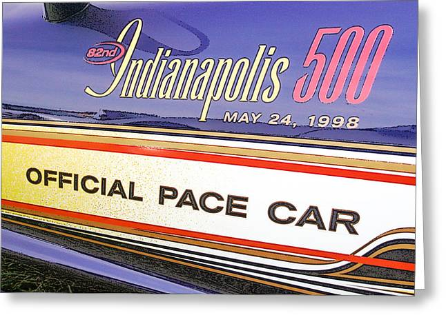 82nd Indy 500 Pace Car Greeting Card by Darrell Foster
