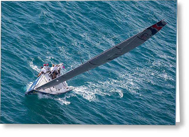 Key West Race Week Aerial Greeting Card