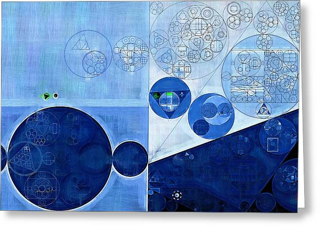 Abstract Painting - Sapphire Greeting Card by Vitaliy Gladkiy