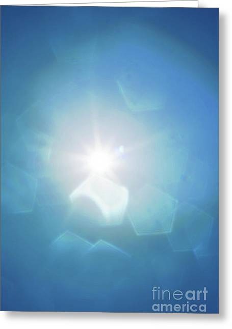 Abstract Sunlight Greeting Card