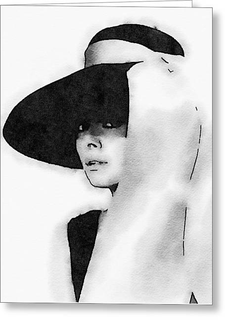 Audrey Hepburn Greeting Card by John Springfield