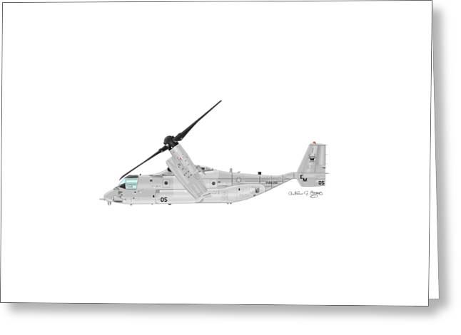 Bell-boeing Mv-22b Osprey Greeting Card by Arthur Eggers